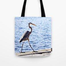 Blue Heron Strut Tote Bag