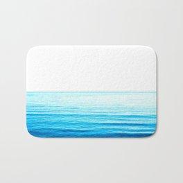 Blue Ocean Illustration Bath Mat