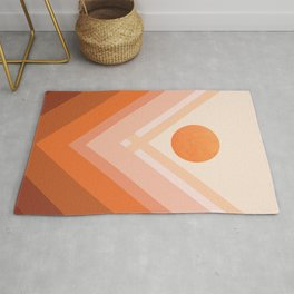 Abstraction_Rainbow_SUN_POP_ART_Minimalism_008X Rug