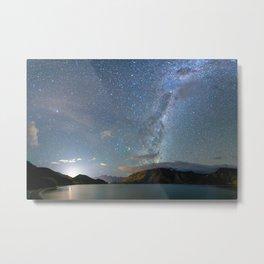 New Zealand Southern Hemisphere Skies Over Lake Wakatipu Metal Print