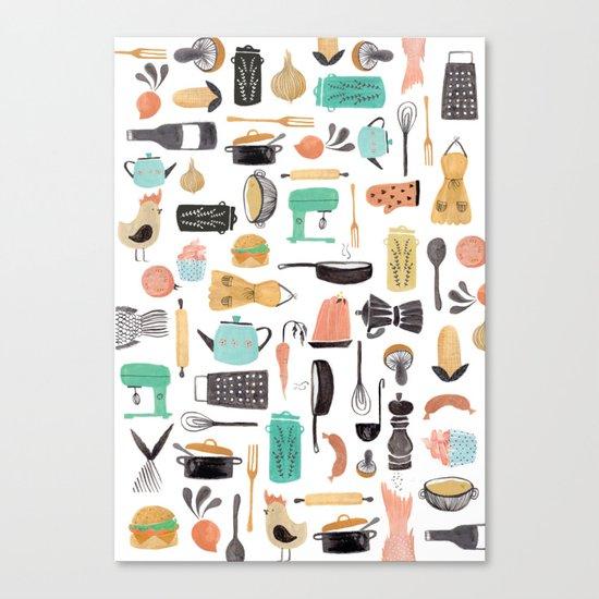 Kitchen Kitsch Canvas Print