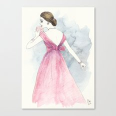 'Emma' Watercolor Fashion Illustration Canvas Print