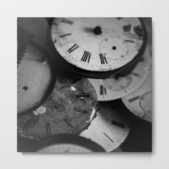 Time - Black and White Metal Print