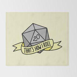 That's How I Roll D20 Throw Blanket