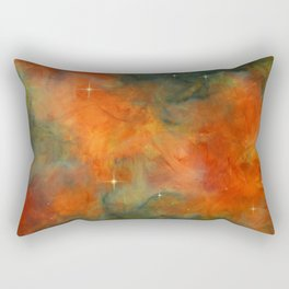 Orange Starlite Rectangular Pillow