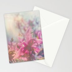 Her Heart Bloomed with Love in the Spring Stationery Cards