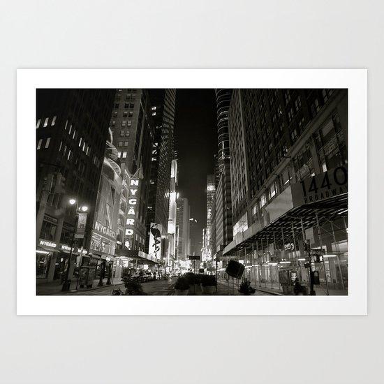 Times Square Noir Art Print