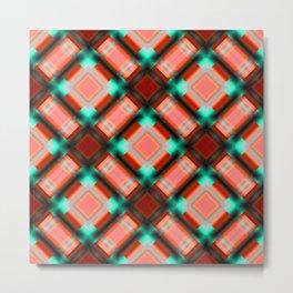 Square pattern serie 1 orange Metal Print