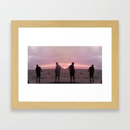 Fishers Reflection Framed Art Print