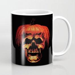Halloween II Pumpkin Skull Stained Glass Coffee Mug