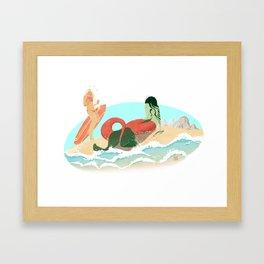 Shore: A Love Story Framed Art Print