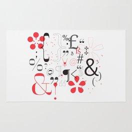Glyphs Poster  Rug