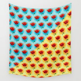 poppin poppies Wall Tapestry
