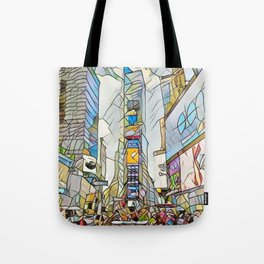 NYC Life in Times Square Tote Bag
