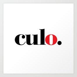 culo. Art Print