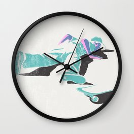 skateboarding (lost time, risograph version) Wall Clock