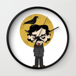 Cute Edgar Allan Poe Wall Clock