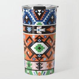 Tribal chic seamless colorful patterns Travel Mug