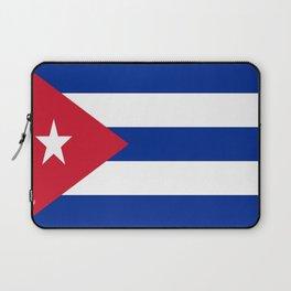 Flag of Cuba -cuban,havana, guevara,che,castro,tropical,central america,spanish,latine Laptop Sleeve