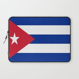 Flag of Cuba -cuban,havana, guevara,che,castro,tropical,central america,spanish,latine Laptop Sleeve