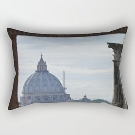 Saint Peter's Basilica framed by Domus Augustea Rectangular Pillow