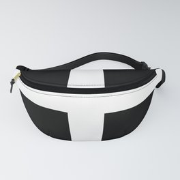 Saint Piran's Flag of Cornwall UK Fanny Pack