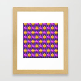 Bejewelled Argyle Framed Art Print