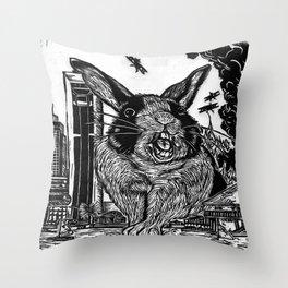 Hoppin Mad Throw Pillow