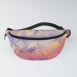 Red Iridescent Flowers Fanny Pack