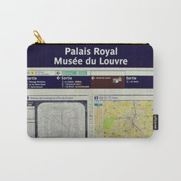 Louvre Museum - Metro sign - Paris underground - Travel photography Carry-All Pouch