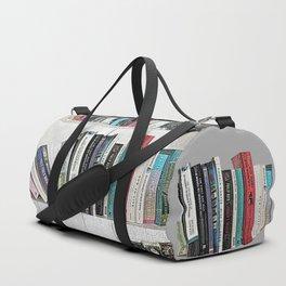 Book shelf love- we are what we read Duffle Bag
