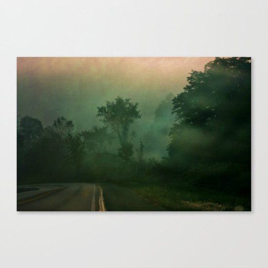 Jump in to the Fog Canvas Print