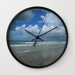 Dramatic Sky Over Litchfield Beach Wall Clock