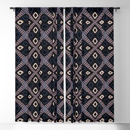 African Mud Cloth Inspired Pattern Blackout Curtain