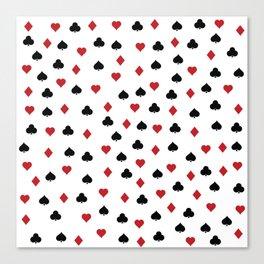 Hearts, clowers, diamonds and spades Canvas Print