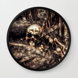 Bones In The Forest Wall Clock