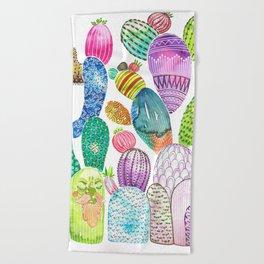 Cactus King Beach Towel