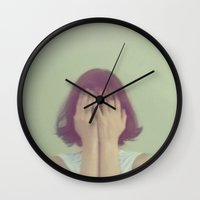 mouse Wall Clocks featuring Mouse by elle moss