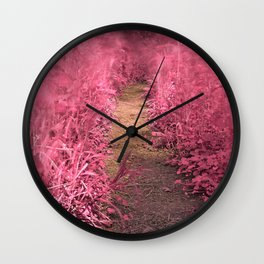 Windy Goose Creek Trail - Tickle Me Pink Wall Clock