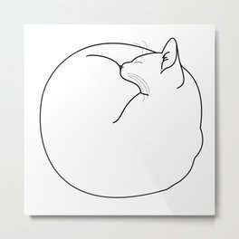 Fuzz Ball Metal Print