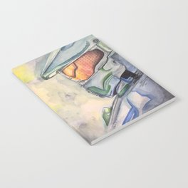 Halo gaming watercolor design Notebook