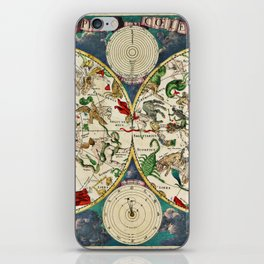 De Wit's Celestial Hemispheres, North and South, 1670 iPhone Skin