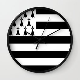 Flag of brittany Wall Clock