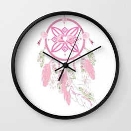 Sweet Dreams, Shabby chic dream catcher Wall Clock