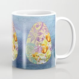 Elegant Floral Easter Egg Coffee Mug