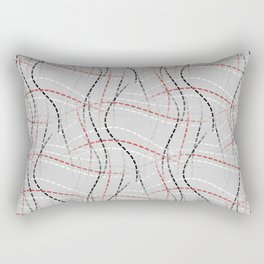 Stitches Abstract Rectangular Pillow