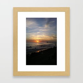 Oceanside Sunset Framed Art Print