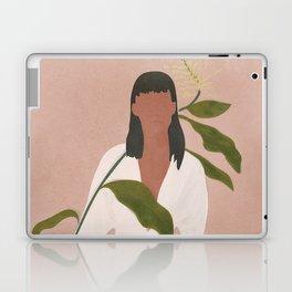 Elegant Lady holding a Flower Laptop & iPad Skin