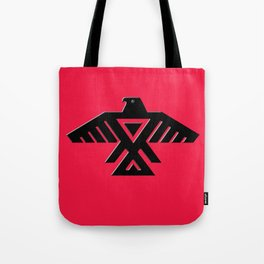 Animikii Thunderbird doodem on red - HQ image Tote Bag