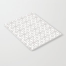 Minimal Nordic Crosses - Scandinavian Warm Grey Pattern Notebook